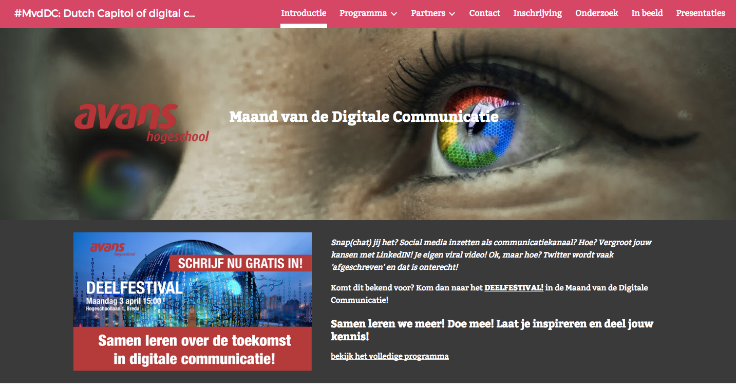 Workshop Op Maand Van Digitale Communicatie (Avans)